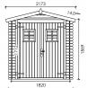 Misure casetta di legno Praga 19mm, 200 x 150 cm, 3m²