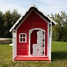 Casetta infantile in legno impregnato in color rosso