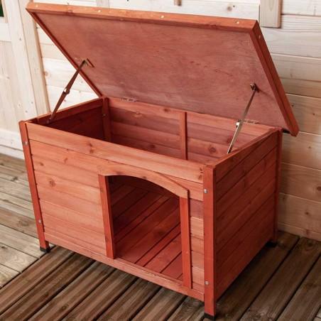 Cuccia di legno per i cani.