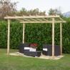 Pergola di legno impregnata in autoclave 240 x 240 cm