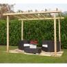 Pergola di legno impregnata in autoclave di misura 240 x 240 cm