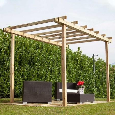 Pergola di legno Como, 240 x 240 cm