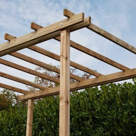 Pergola Cremona in pino massello impregnato autoclave 300x400 cm