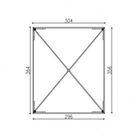 Misure gazebo con grigliati  300 x 360 cm