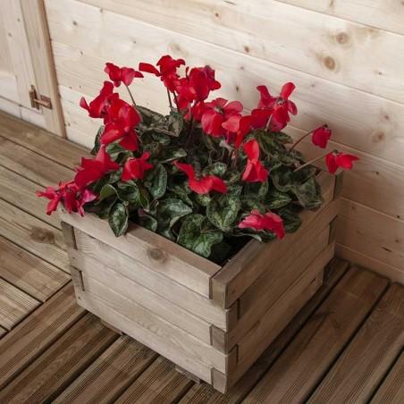 Fiorera di legno quadrata