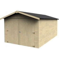 Garage in legno Garove 15mm, 273 x 461 cm, 12.57m²