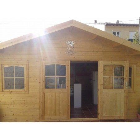 casetta in legno Valograde 34mm, 486 x 486 cm, 23.62m²