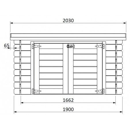 Misure armadio in legno Cofre piscina 19 mm, 190 x 87 cm