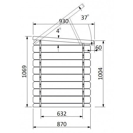 Misure armadio in legno piscina 19 mm, 190 x 87 cm