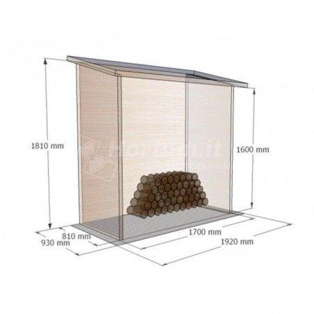 Misure Armadio in legno Aveal , 170 x 81 cm, 1.38m²
