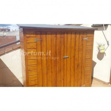 Armadio giardino in legno Albecove. 12 mm, 170 x 82 cm 4P