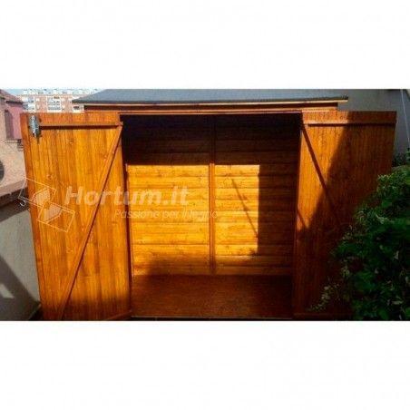 Armadio giardino da esterno in legno Albecove 170x82 cm