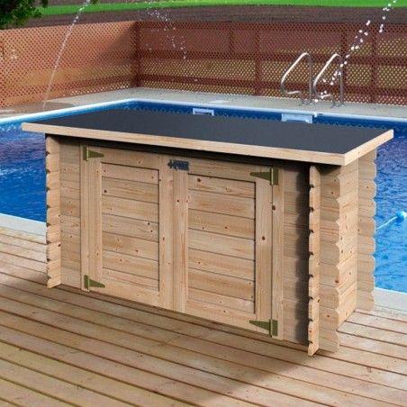 Cofre piscina in legno 19 mm, 190 x 87 cm