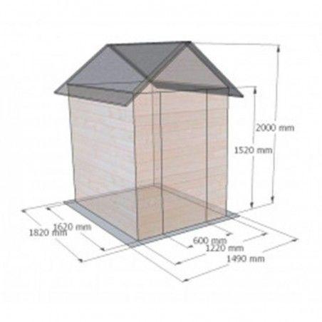 Casetta Ambeal. 12 mm, 122 x 162 cm. 1.98 m²