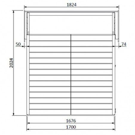 Misura della casetta in legno Altea 12mm, 122 x 162 cm