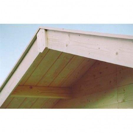 Dettaglio del tetto casetta in legno Valograk 34mm, 300 x 300 cm