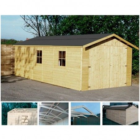 Garage in legno Gapale 15mm, 303 x 612 cm, 18.54m²