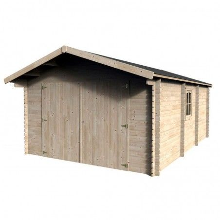 Garage in legno Gamafor 28mm, 386 x 550 cm, 21.23m²