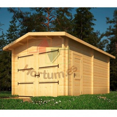 Garage in legno Sella 34/44mm, 350x500cm, 17m²