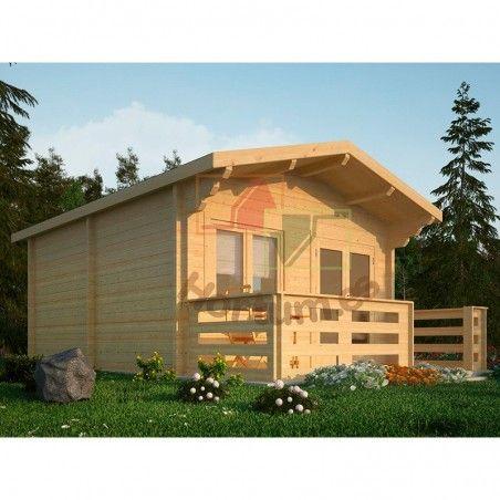 Case in legno Huron 34 mm, 400x500cm, 20m²