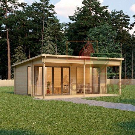 Case in legno Lena 44 mm, 516x616cm, 31m²