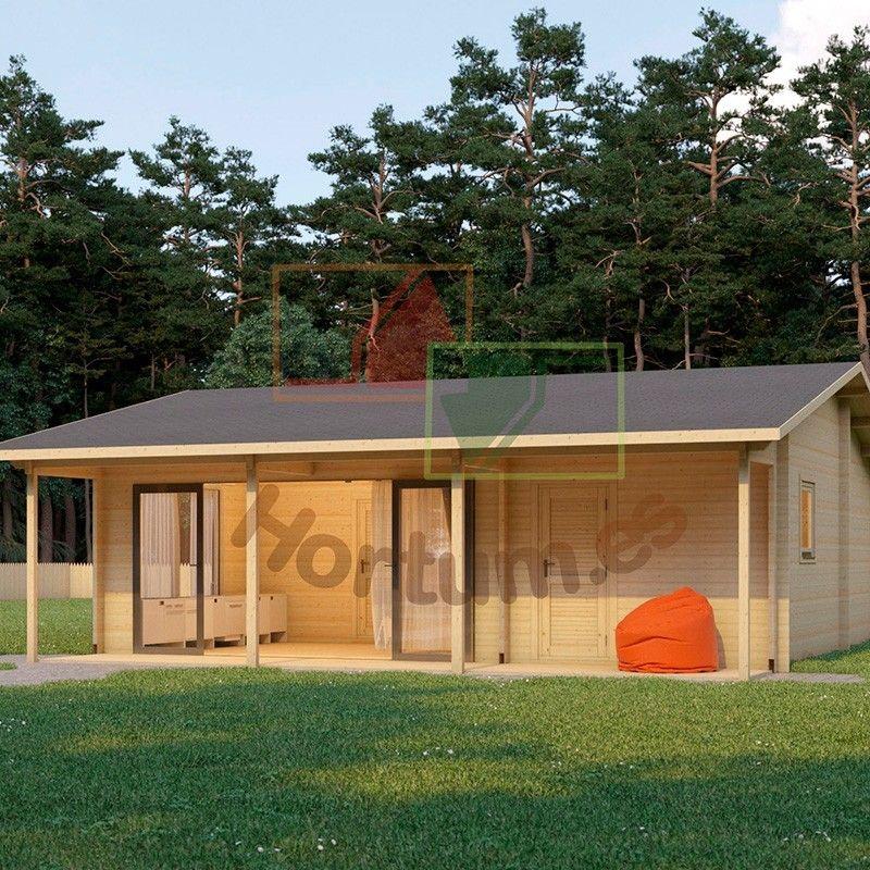 Case in legno Duero 44 mm, 800x800cm, 64 m²