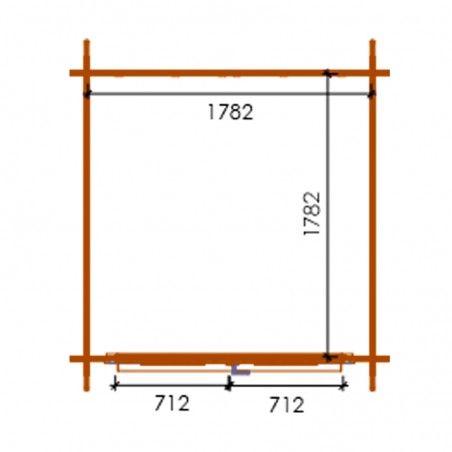 Misure casetta Perla impregnata, 19mm, 200 x 200 cm, 4m²