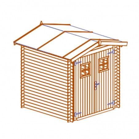 Casetta in legno impregnato Perla, 19mm, 200 x 200 cm, 4m²
