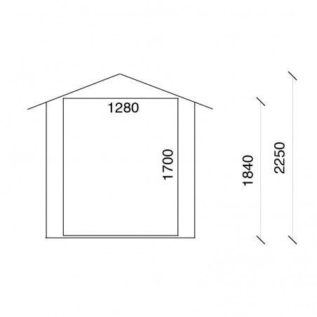 Altezza casetta di legno Merlin 18mm, 170 x 120 cm, 2m²