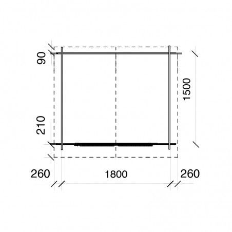 Misure Merlin 18mm, 170 x 120 cm, 2m²