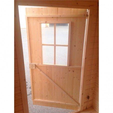 Porta casetta di legno grezzo 2x2 modello Londra.