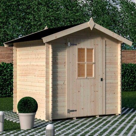 Casetta di legno grezzo 2x2 modello Londra.