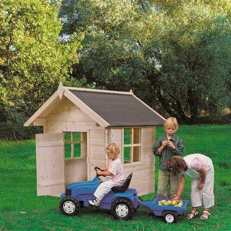 Casettina infantile di legno grezzo. 18mm, 130 x 130 cm, 1.12m²