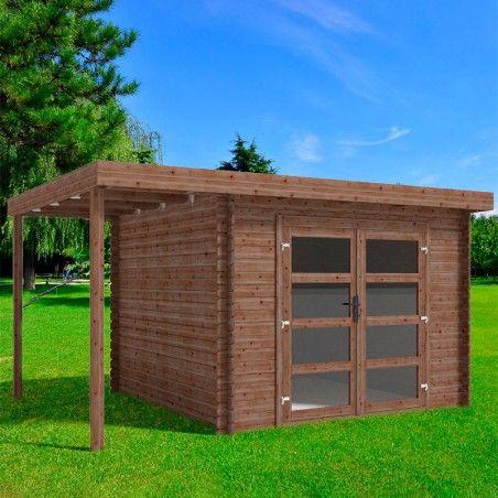 Casetta legno impregnato Bella 28mm, 410 x 300 cm, 12,3m²