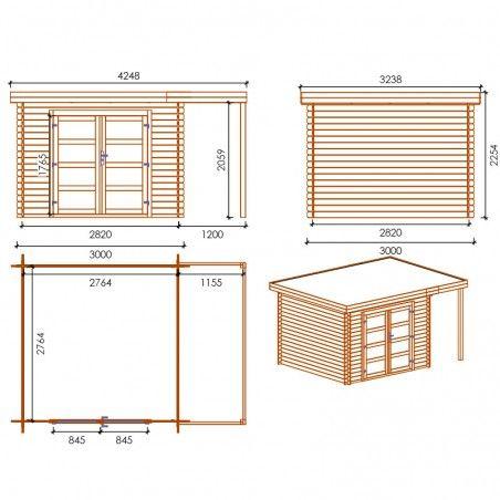 Misure casetta legno impregnato Bella