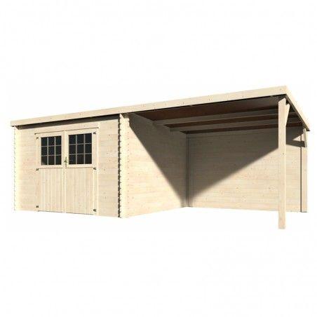 Casetta di tetto piatto in legno Eden 605 x 300 cm, 18 m²