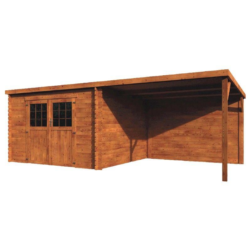 Casetta in legno impregnato in autoclave marrone Eden