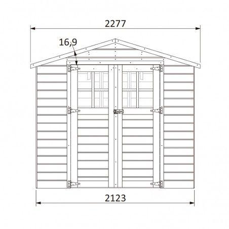 Misure casetta da giardino di legno Lodeo 210 x 160 cm
