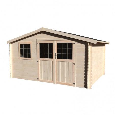 Casetta in legno Valeria 34 mm, 400 x 300 cm, 11.86 m²