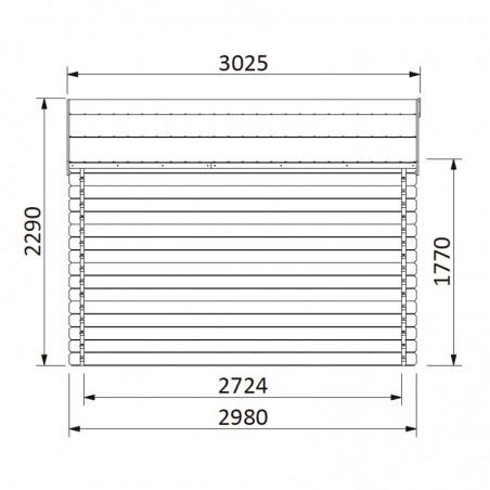 Misure casetta da giardino in legno Valeria 34 mm, 400 x 300 cm, 11.86 m²