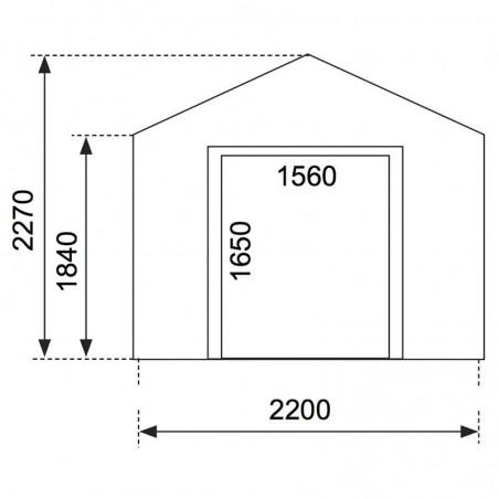 Casetta di legno Felix 18mm, 240 x 200 cm, 4.7m²