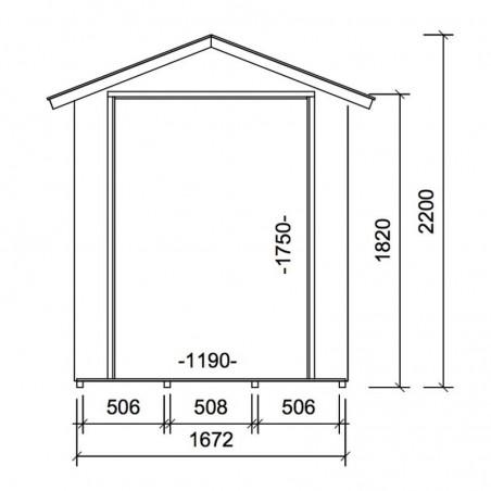 Misure armadio di legno sam