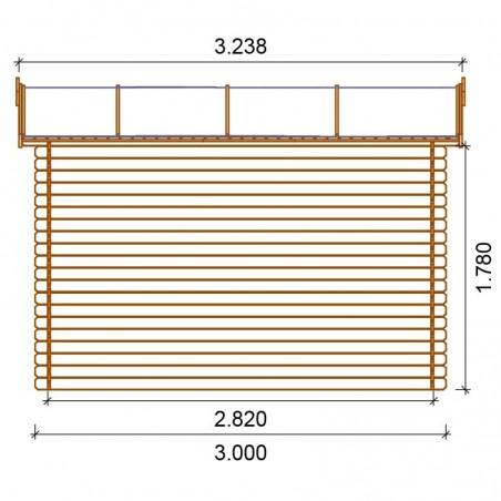 Misure casetta di legno Viola