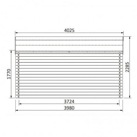 Misure casetta Vallauris impregnata 34 mm, 400 x 400 cm, 15.84 m²