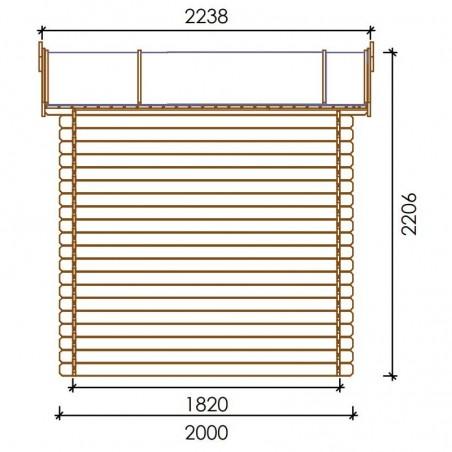 Misure casetta di legno Sara 19mm, 246 x 200 cm, 4.92m²