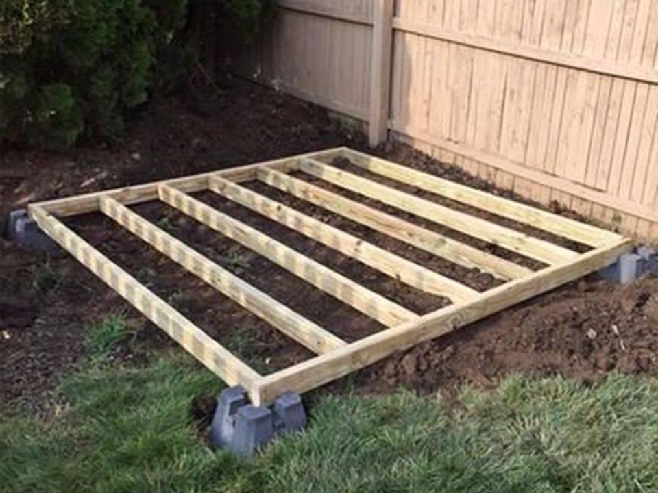 Fondamenta di legno per casette