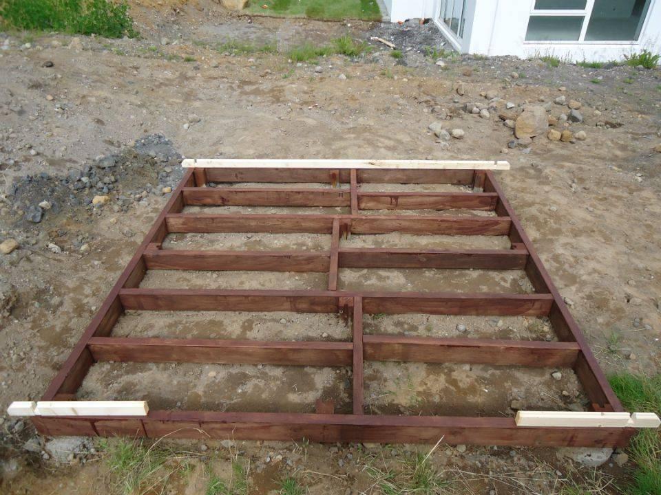 Fondamento di legno per casette in legno