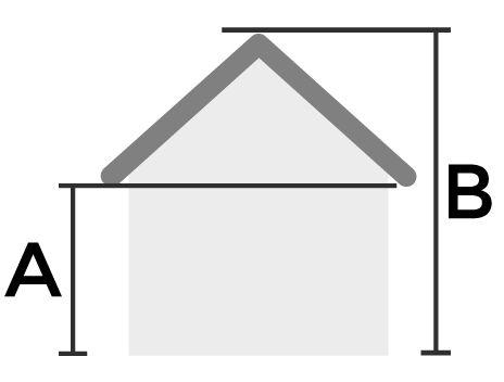 Altura de la pared y altura máxima - casa a medida - Hortum